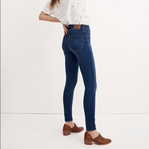 "Madewell 10"" High riser skinny skinny jeans 27"
